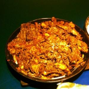 Crispy Aloo bukhara chicken