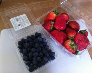Strawberries & blueberries