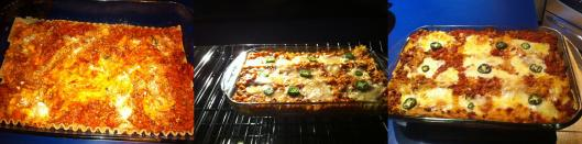 Image of lasagna in oven