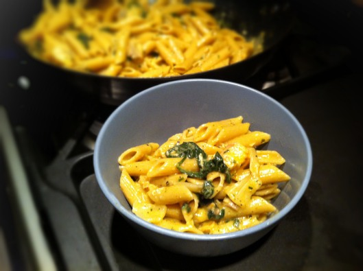 Image of Cajun spiced salmon pasta