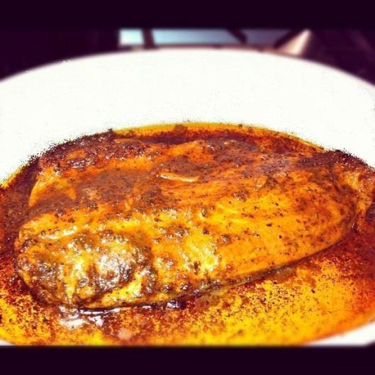Image of  baked trout fillet
