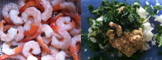 Image of Washed prawns and make the marinade