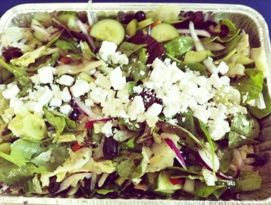 Feta topped salad
