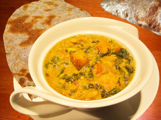 Image of Sag paneer and paratha