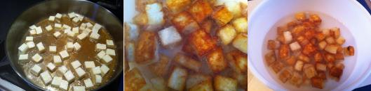 Lightly frying the paneer