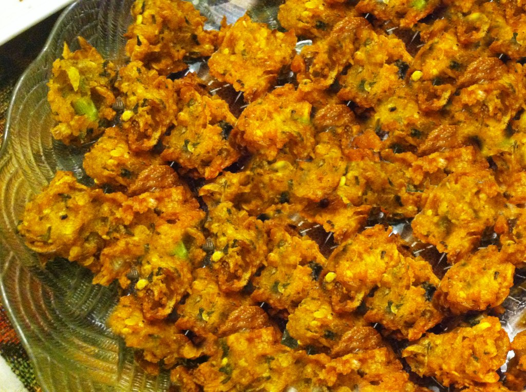 Lentil and onion fritters