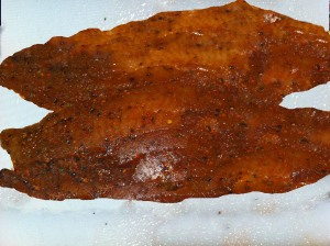 Coat the fish in the Cajun rub
