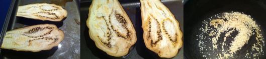 Image of Aubergine and sesame seeds