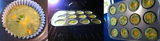 Images of baking quiches