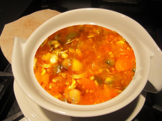 Image of Spicy chicken and shrimp soup