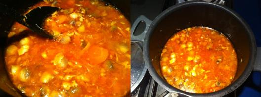 Simmering soup