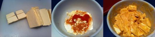 Image of marinating tofu