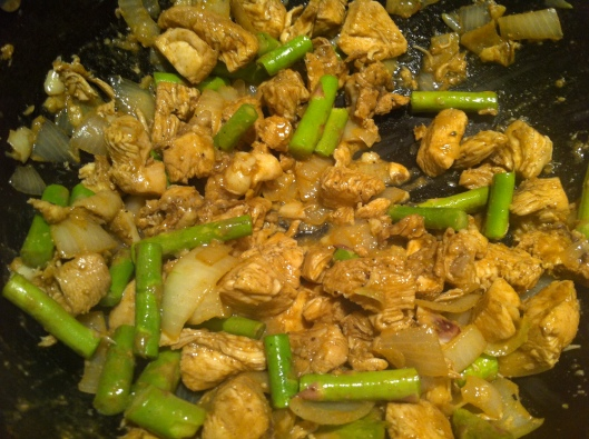 Image of Ginger chicken with asparagus
