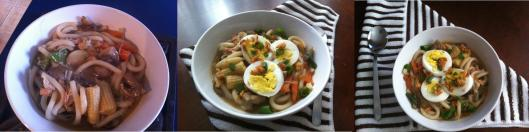Udon with chicken and bacon