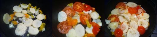 layering salt cod stew