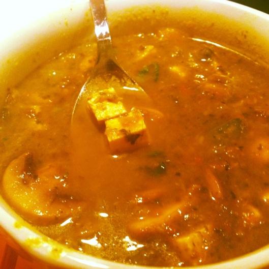 Soup with Chunky Tofu