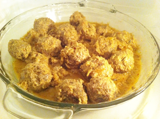 Bengali meatball curry in a yoghurt based sauce
