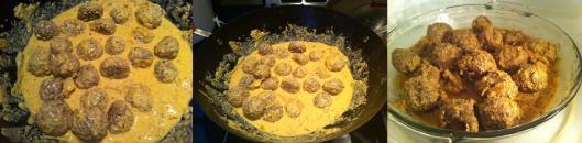 Meatballs in korma sauce