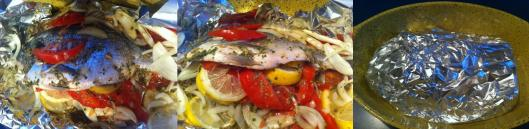 fish in foil to roast