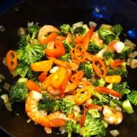 Shrimps in Pesto Sauce with Spelt Rigatoni