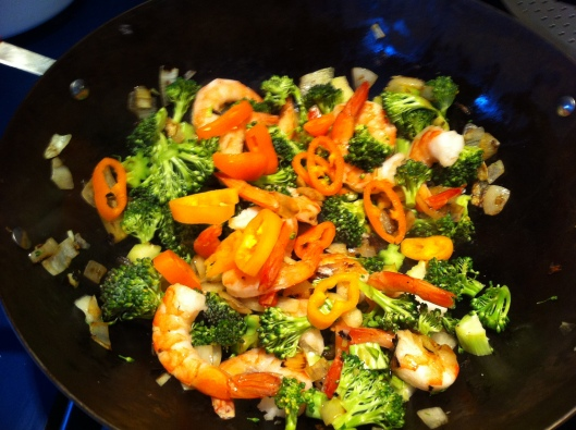 Shrimps with Broccoli & Pepeprs
