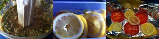 layering tomatoes and lemons