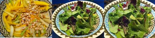 Peanuts and spring greens