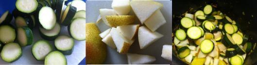 Zuchini and pears