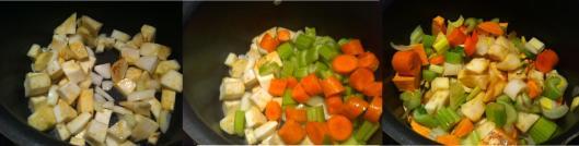 leeks, celeriac, carrots, celery