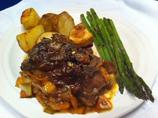 lamb chops with roast potatoes