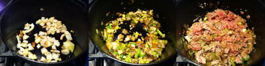 Saute onions, garlic and celery