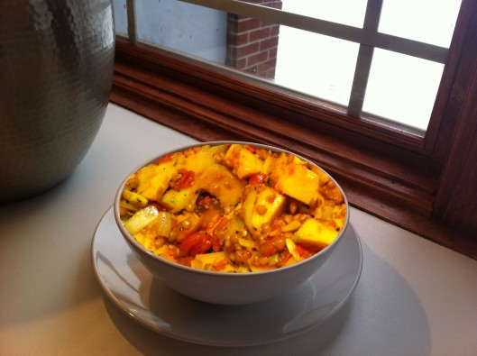Curried buttercup squash