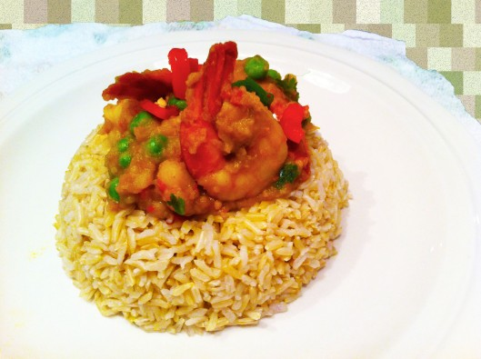 shrimp & potato curry