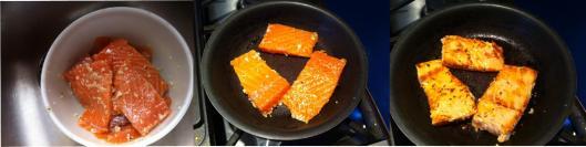 lightly searing salmon