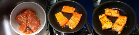 lightly searing salmon