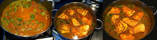 Salmon curry with tomatoes and cilantro