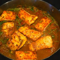 Salmon in a Cherry Tomato & Cilantro curry